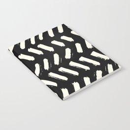 Tribal Dance Dot - Ivory on Black Notebook