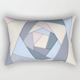 Geometric Layers of Color Rectangular Pillow