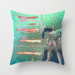 Potted Meat Man Goes Bonkers Throw Pillow