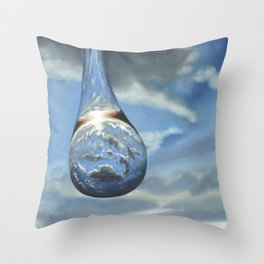 Tears In His Bottle Throw Pillow