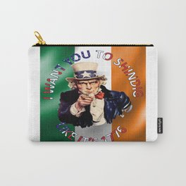 Irish American Uncle Sam Celebration Shindig Carry-All Pouch