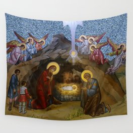 The Manger of Jesus Wall Tapestry