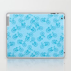 Blue Bicycle Pattern Laptop & iPad Skin