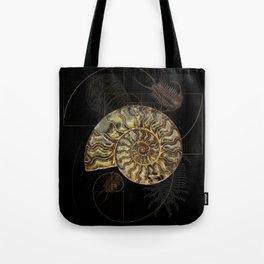Ammonite Trilobite Fibonacci Spiral Tote Bag