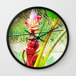 Tropical Petals Wall Clock