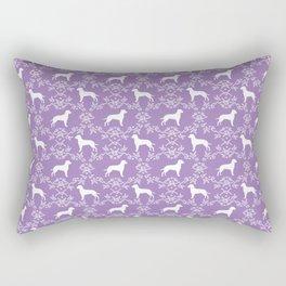 Dalmatian dog breed silhouette florals dog art dalmatians pure breed Rectangular Pillow