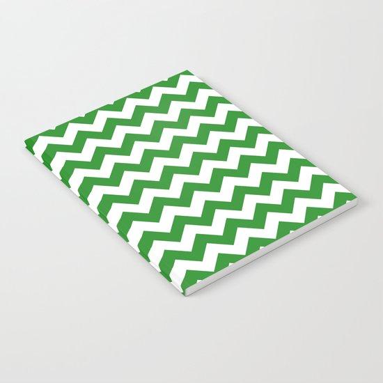 Chevron (Forest Green/White) Notebook