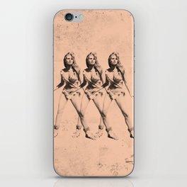 Raquel Welch in Triplicate iPhone Skin