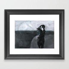 O mar eram nuvens Framed Art Print