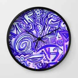 Violet Symbols Wall Clock