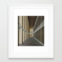 outdoor Framed Art Prints featuring Outdoor Corridor by Kevin Myron