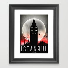 Black-White Galata Tower Istanbul Framed Art Print