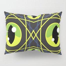 Halloween Green Eyes Pillow Sham