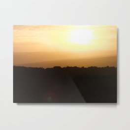 Sunrise on Safari Metal Print