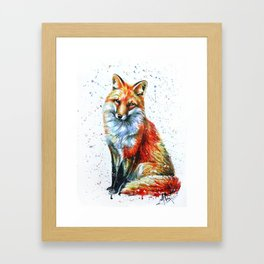 FOX 2 watercolor Framed Art Print