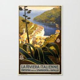 La Riviera italienne, Portofino près de S.Margherita et Rapallo Canvas Print