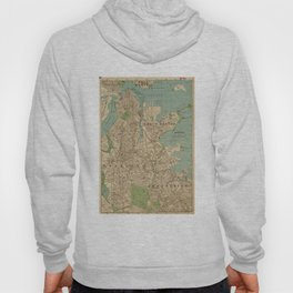 Vintage Map of Boston MA (1900) Hoody