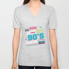 Born In The 80's Hipster Gift Unisex V-Neck