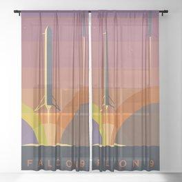 Falcon 9 Launch minimalist  Sheer Curtain