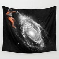 nasa Wall Tapestries featuring Space Art by Florent Bodart / Speakerine