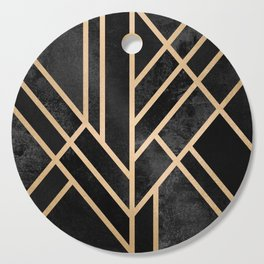 Art Deco Black Cutting Board