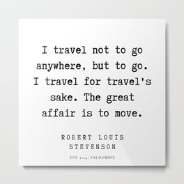 4  | Robert Louis Stevenson Quotes | 200113 Metal Print