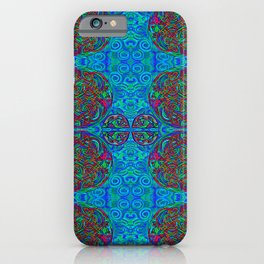 Celtic Knot Work in Blues and Greens iPhone Case