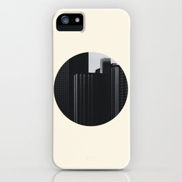 Black and White Buildings iPhone Case