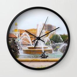 JC Nichols Horse Fountain Kansas City Country Club Plaza Tilt Shift Wall Clock