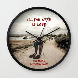 all you need is wifi Wall Clock