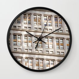 Sunshine in the City Wall Clock