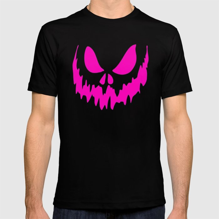 6df97208e2 Scary Face Halloween Tshirt -Glow in the Dark Effect Print T-shirt ...