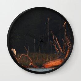 Sunrise Marsh Birds Wall Clock