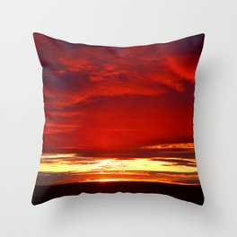 Devil sky Above Throw Pillow
