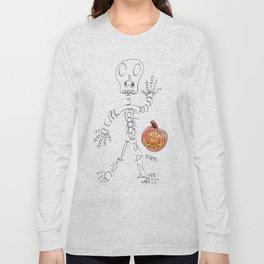 Skeletal Greetings Long Sleeve T-shirt