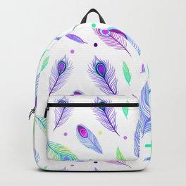 Beautiful Peacock Pattern Backpack