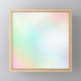 Faux Metallic Cotton Candy Hues Framed Mini Art Print