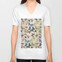 insect V-neck T-shirts featuring Insect Jungle by Galvanise The Dog