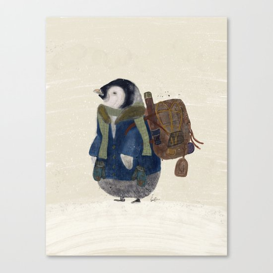 the little explorer Canvas Print
