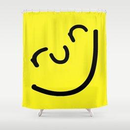 Run Smiley Shower Curtain