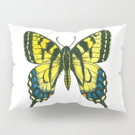 Tiger swallowtail butterfly watercolor and ink Pillow Sham