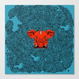 Mutant Pig Unicorn Canvas Print