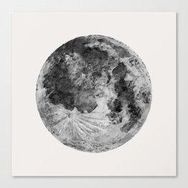 Watercolour Moon (Canvas) Canvas Print