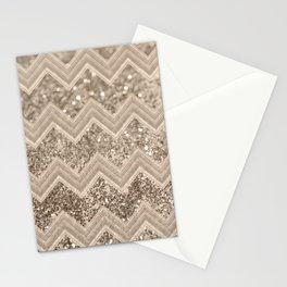 Sepia Glitter Chevron #1 #shiny #decor #art #society6 Stationery Cards