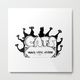 Cats from hell Metal Print
