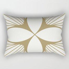 Diamond Series Floral Diamond Gold on White Rectangular Pillow
