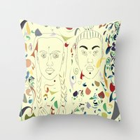 japan Throw Pillows featuring Japan by March Hunger