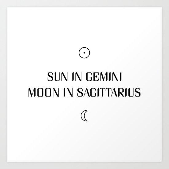 Gemini/Sagittarius Sun and Moon Signs by roamandroot