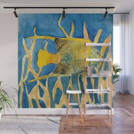 tropical fish square painting Wall Mural