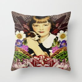 Amelie and Beau Throw Pillow